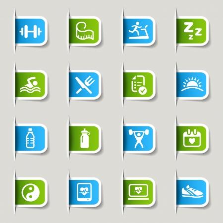 라벨 - 건강 및 피트니스 아이콘