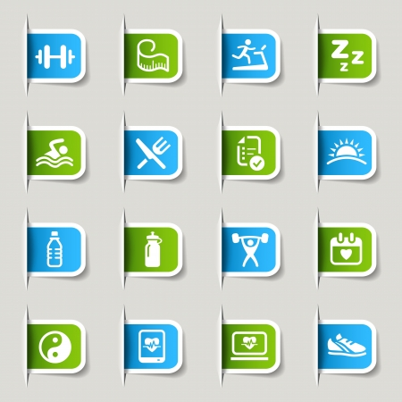 Label - Health and Fitness icons Vector