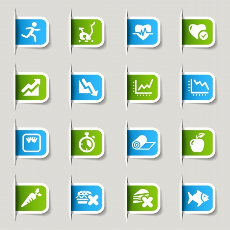 Label - Health and Fitness icons Stock Vector - 17533661