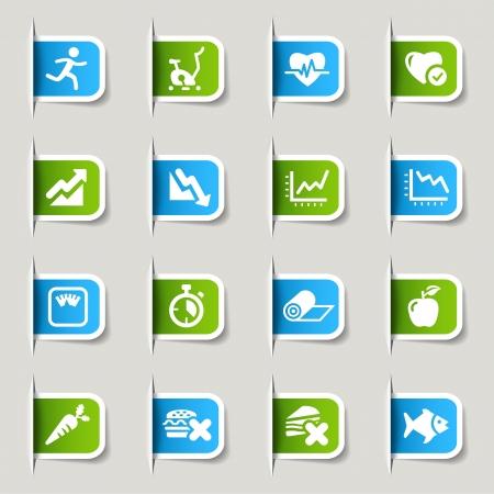 sports icon: Label - Iconos de Salud y Fitness Vectores