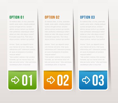 possibility: one, two, three options - Vector graphic design