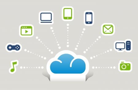 Cloud computing Stock Vector - 17533668