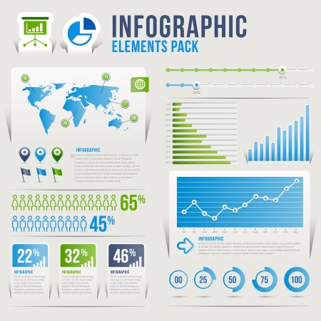 histogram: Infographic elements pack