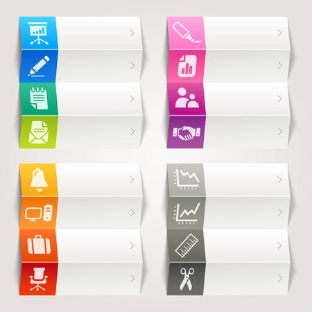 Rainbow - Office and Business icons   Navigation template Stock Vector - 17533692