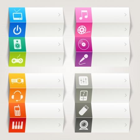 cd player: Rainbow - Media icons   Navigation template