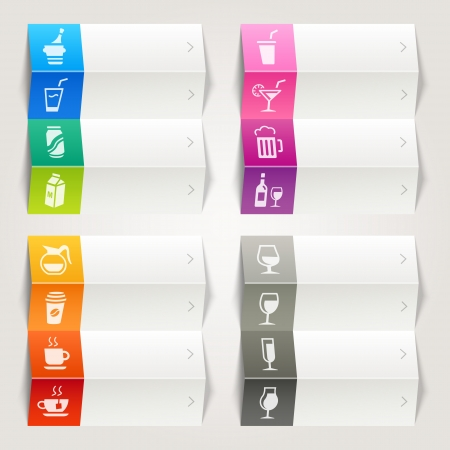 Rainbow - Drink and Alcohol icons   Navigation template Vector