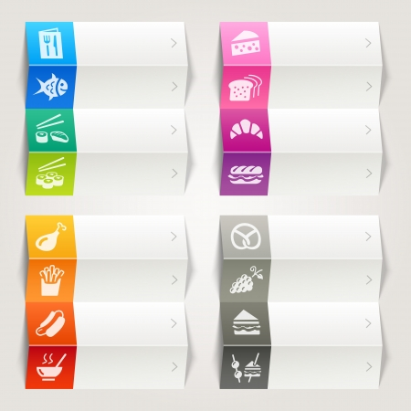 Rainbow - Food and Restaurant icons   Navigation template Vector