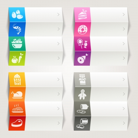 veal sausage: Rainbow - Food and Restaurant icons   Navigation template Illustration