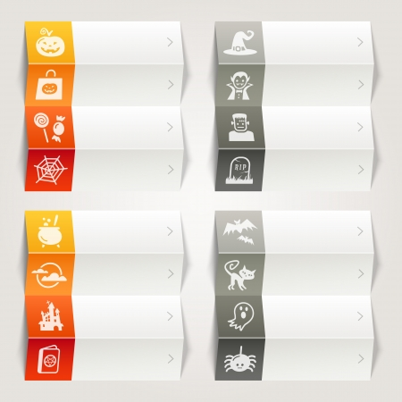 Rainbow - Halloween icons   Navigation template Vector