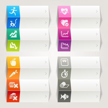 Rainbow - Zdrowie i fitness szablon ikony Nawigacja