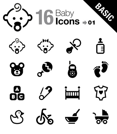 Basic - Baby icons Vector