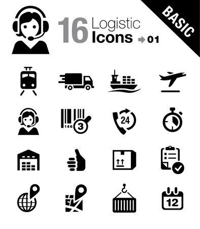 Basic - Logistic and Shipping icons Stock Photo - 17896101
