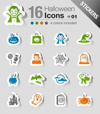 Stickers - Halloween Icons Vector