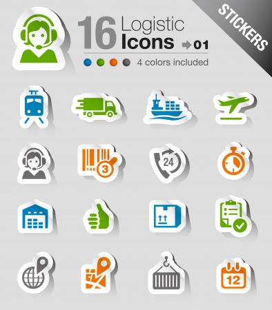 shipments: Stickers - Logistic and Shipping icons