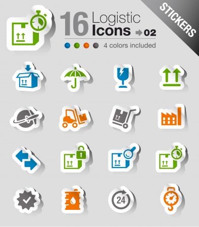 Stickers - Logistic and Shipping icons Stock Vector - 17988771