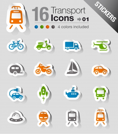 Stickers - Transportation icons Vector