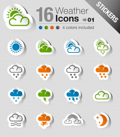 Stickers - Weather Icons Imagens - 17991123