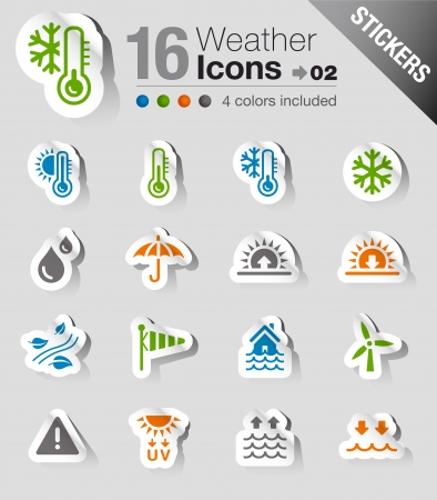snow storm: Stickers - Weather Icons