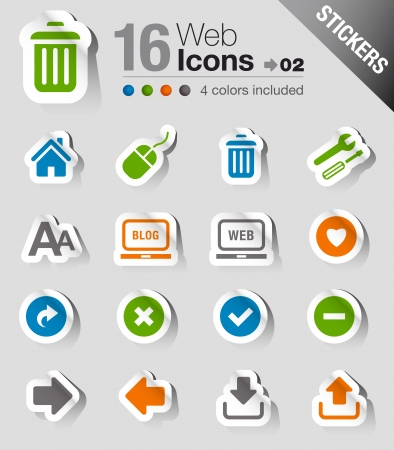 Stickers - Website and Internet Icons Vector