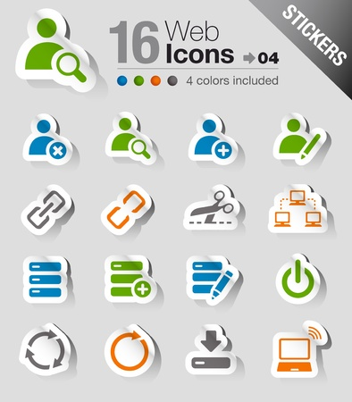 Stickers - Website and Internet Icons Stock Vector - 17989531