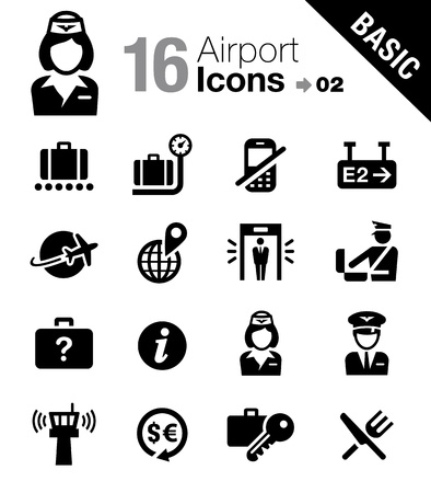 suspicious: Basic - Airport and Travel icons