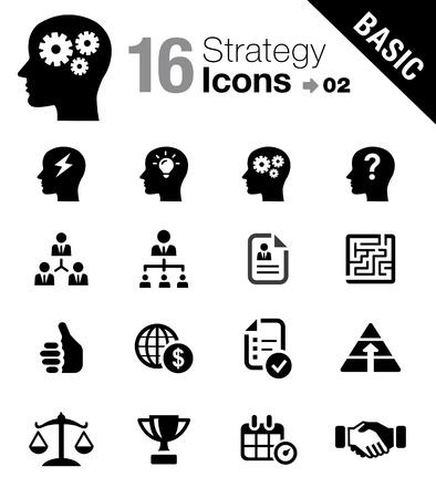 Iconos de la estrategia de negocios y la gestión - Básico Ilustración de vector