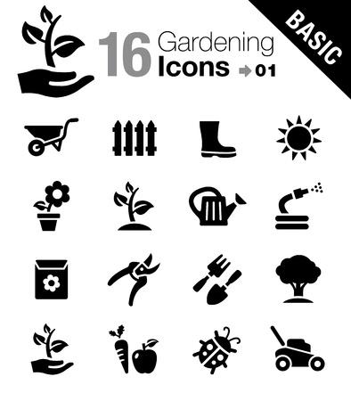 Iconos Jardinería - Básicos Ilustración de vector