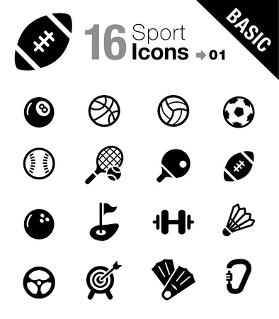 Basic - Sport icons Illustration