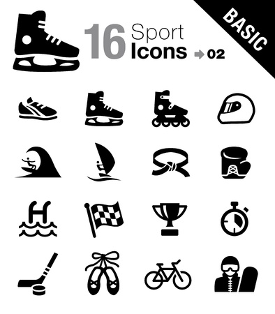 windsurf: Basic - Sport icons Illustration