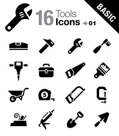 Grundlagen - Werkzeuge und Construction icons Illustration