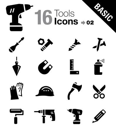 tuercas y tornillos: Herramientas e iconos de construcción - Básicos Vectores