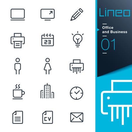 Lineo - ícones de contorno de escritórios e empresas Foto de archivo - 26039177