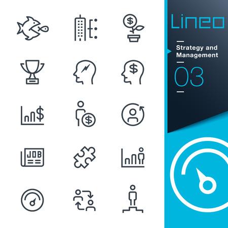 Lineo - 戦略と管理の概要アイコン  イラスト・ベクター素材