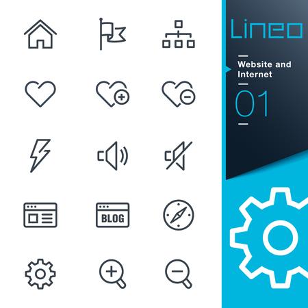 Lineo - 웹 사이트 및 인터넷 개요 아이콘 일러스트