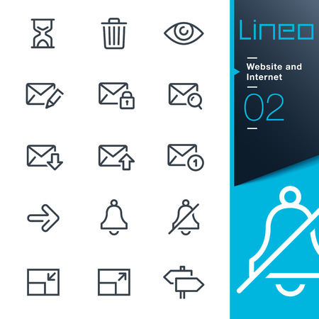 Lineo - Website and Internet outline icons Vector