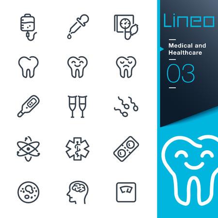 Lineo - Médicos y de salud iconos de contorno Foto de archivo - 26579416