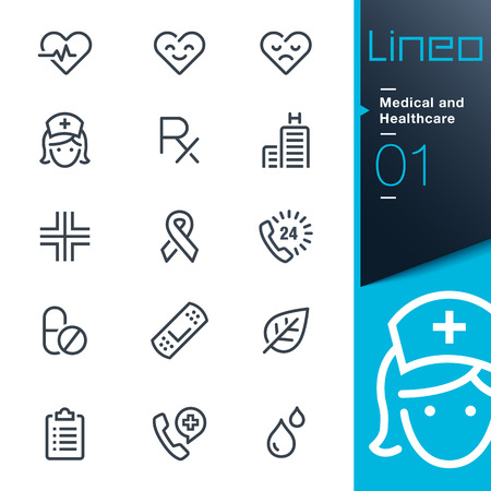 Lineo - Medical and Healthcare outline icons Vector