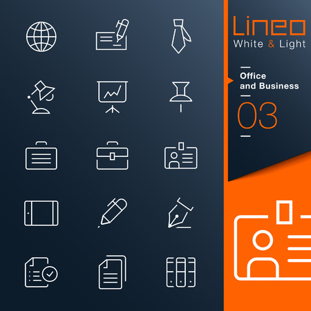 sized: Lineo White   Light - Office and Business outline icons