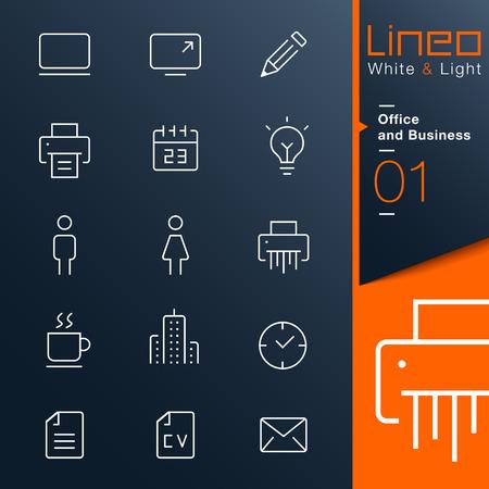 Lineo White Light - Büro-und Business-Umriss-Symbole
