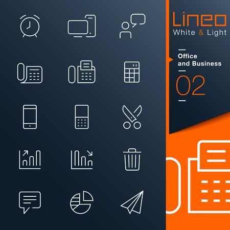 white light: Lineo Luz Blanca - Oficina y Negocios iconos de contorno