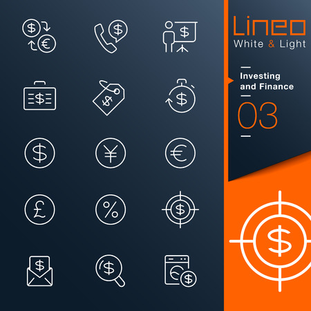 currency converter: Lineo White   Light - Investing and Finance outline icons