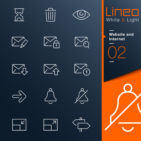 Lineo White   Light - Website and Internet outline icons Vector