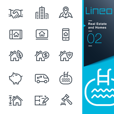 Lineo - Immobilien und Wohnungen Umriss-Symbole