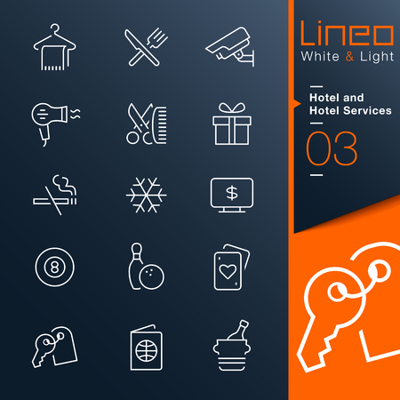 air conditioning: Lineo White   Light - Hotel and Hotel Services outline icons