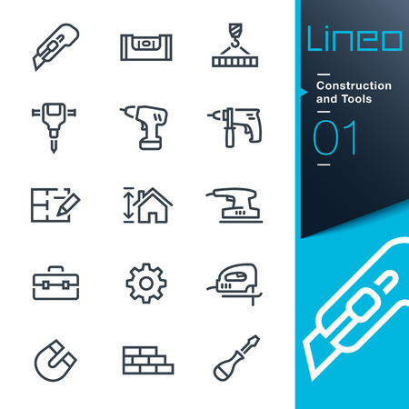 architect tools: Lineo - Construction and Tools outline icons