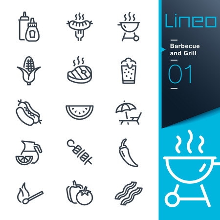 Lineo - Barbecue and Grill outline icons Vector