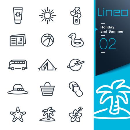 Lineo - 休日や夏休みの概要アイコン  イラスト・ベクター素材