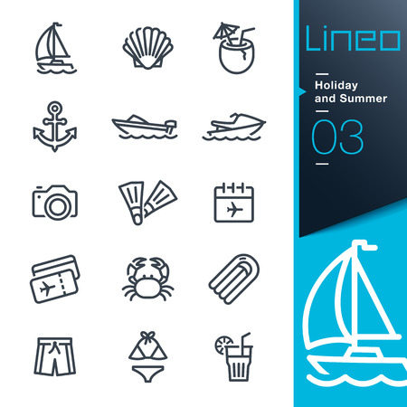 Lineo - Holiday and Summer outline icons Vector