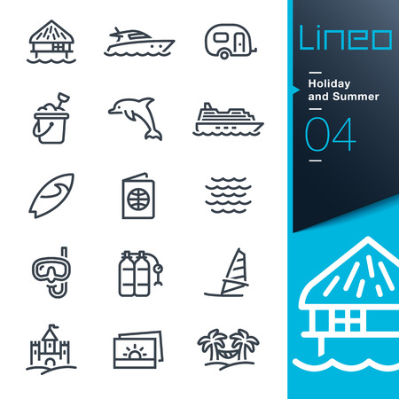 Lineo - Holiday and Summer outline icons Imagens - 30565268