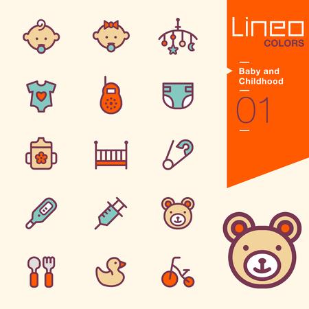 baby cutlery: Lineo Colores - beb�s e infancia iconos